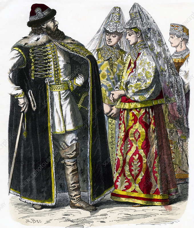 Traditional Russian Costume', c1850
