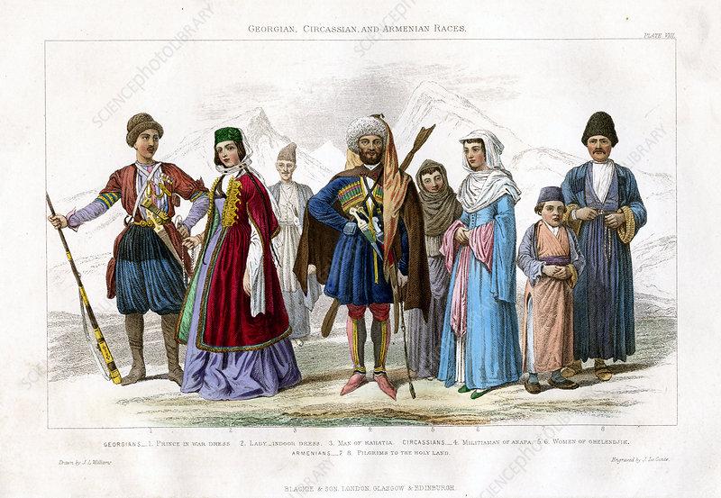 Georgian, Circassian and Armenian Races', 1873