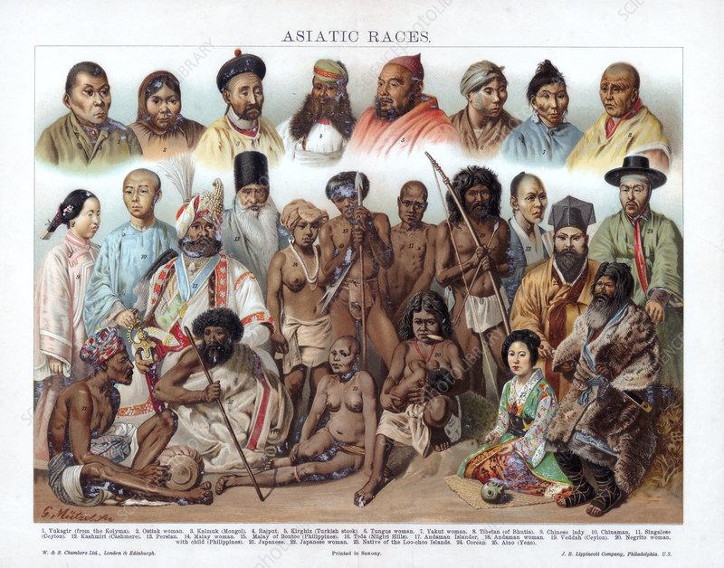Asiatic Races', 1800-1900