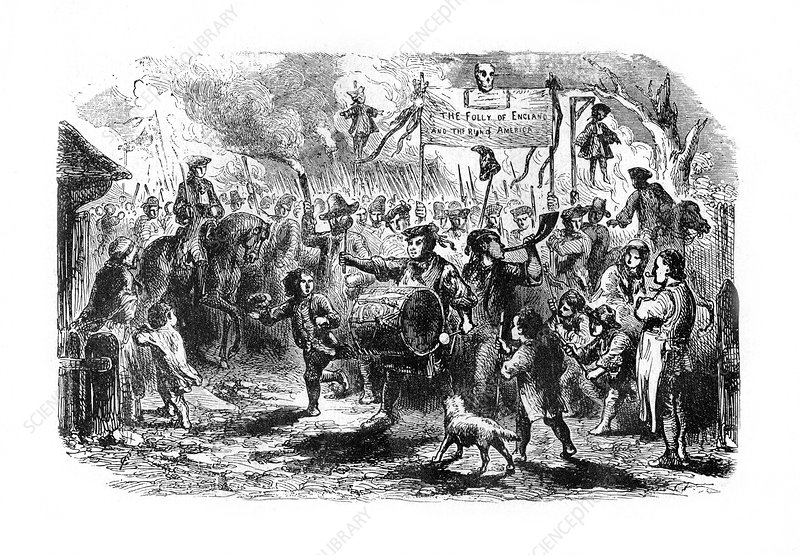 The Stamp Riots of New York, c1765