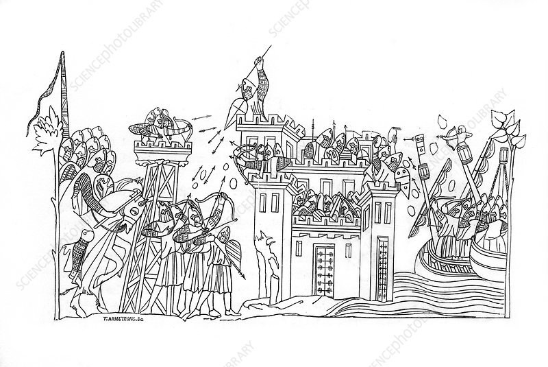 Siege scene, c1260