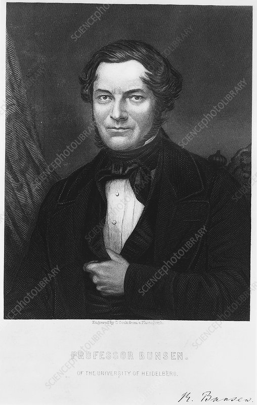 Robert Bunsen, German chemist, 1850s
