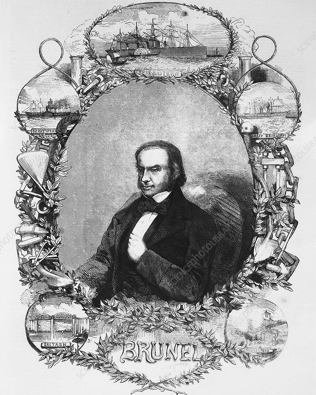 Isambard Kingdom Brunel, civil engineer, c1850s