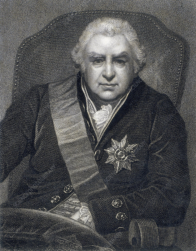 Joseph Banks, President of the Royal Society, botanist