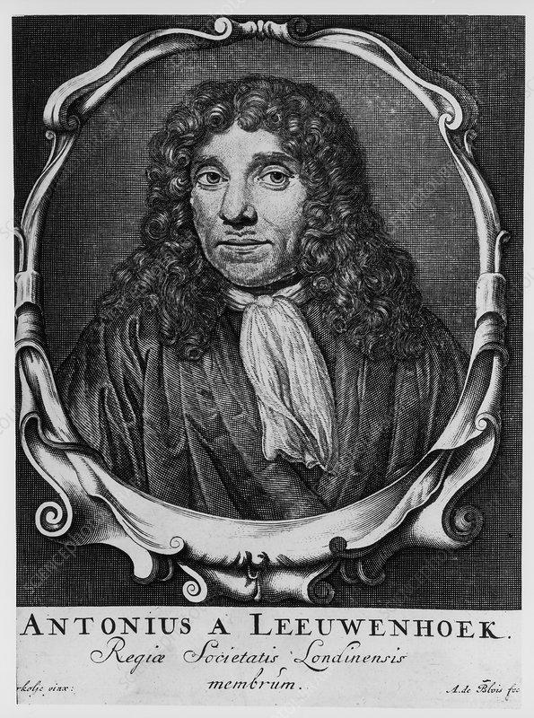Antoni van Leeuwenhoek, Dutch pioneer of microscopy, c1660