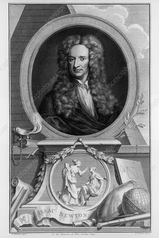 Sir Isaac Newton, English scientist and mathematician, c1700