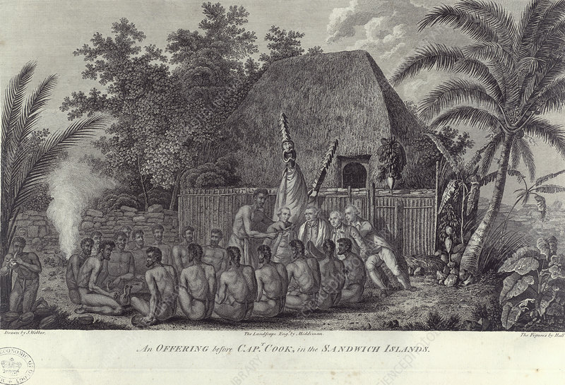 Natives of the Sandwich Islands, Hawaii, c1778