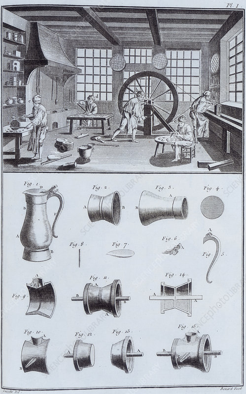 Pewter-making, c1750s