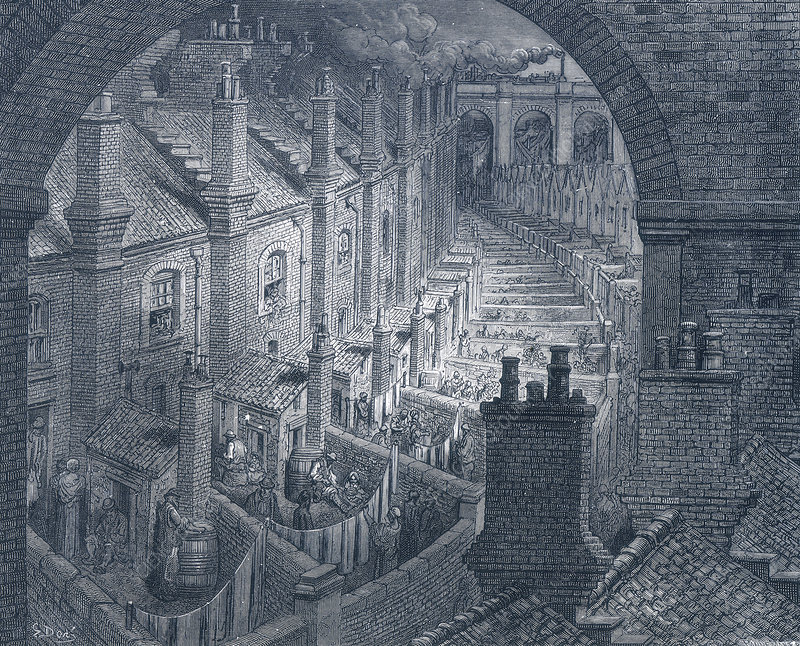 Over London - By Rail', 1872