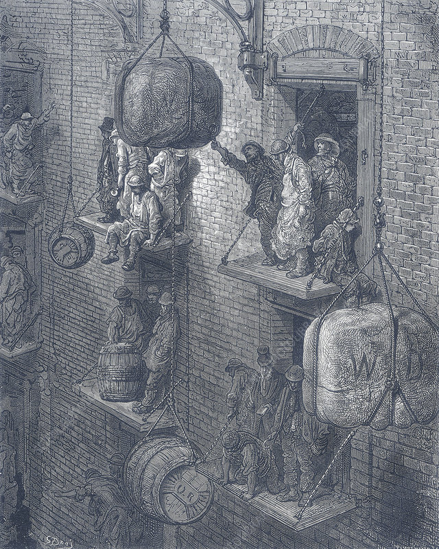 Warehousing in the City', 1872