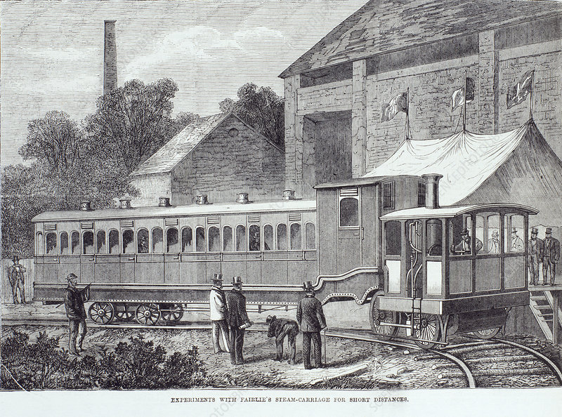 Experiments with Fairlie's steam carriage, August 1869