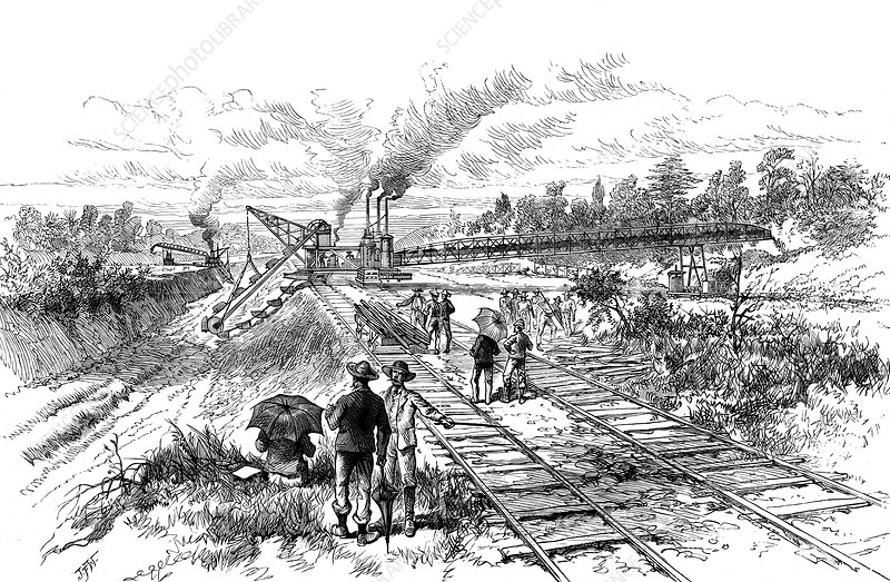 Excavating the Panama Canal, 1888