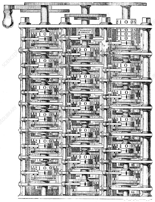 Babbage's 'difference machine', 1864