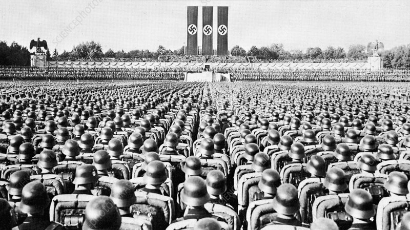 SS Guard on Parade at a Nazi Party rally in Nuremberg, 1930s