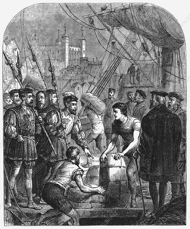The Bible being smuggled into England, 1536