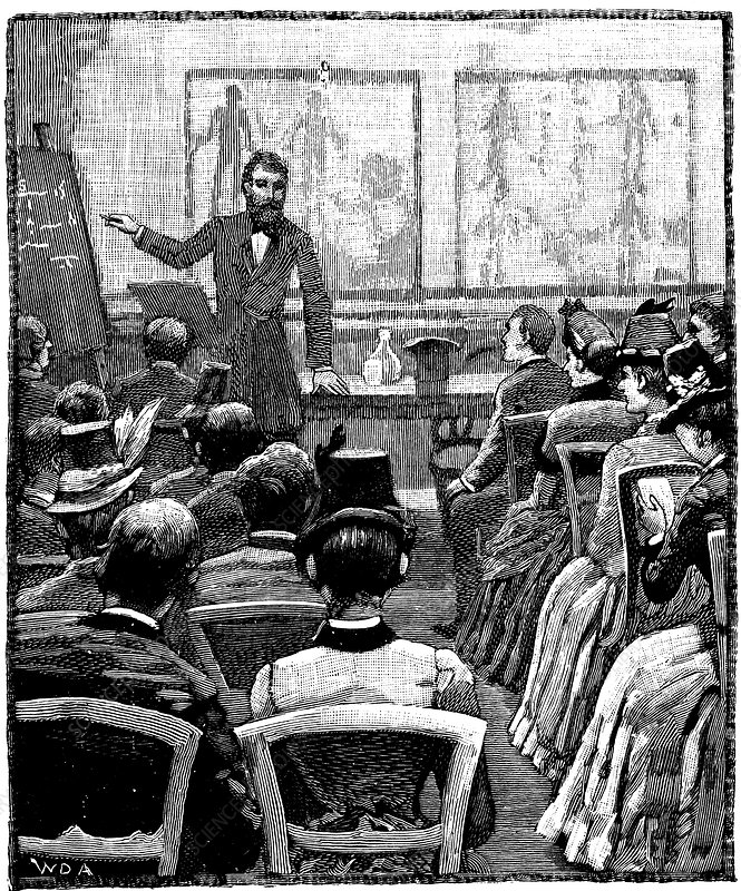 Lecture on physiology and hygiene at the YMCA, 1887