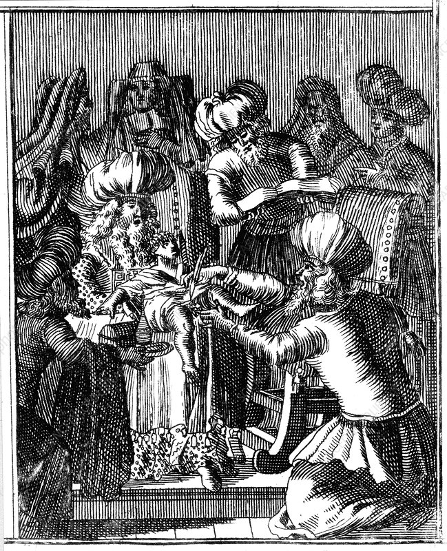 Ceremony of Circumcision, Basel, 1739