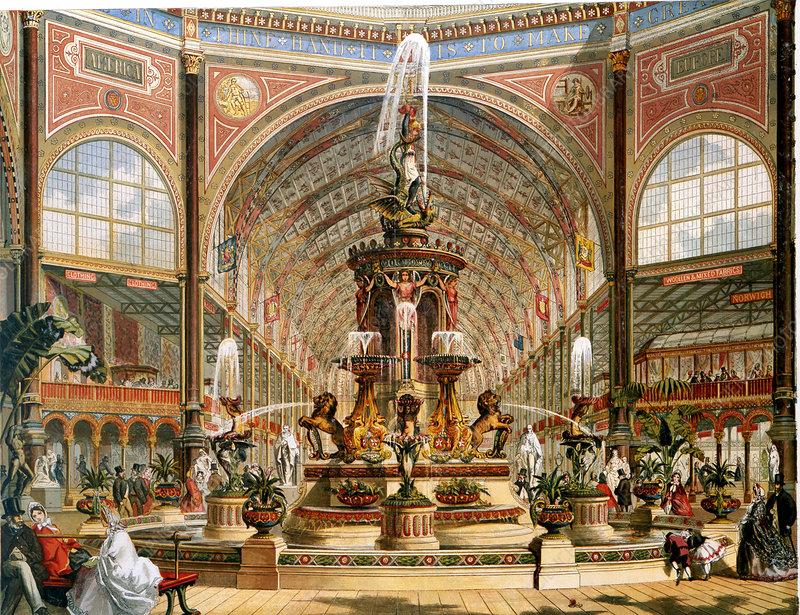 Interior of Crystal Palace, International Exhibition, 1862