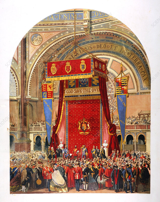Opening of the International Exhibition, 1862
