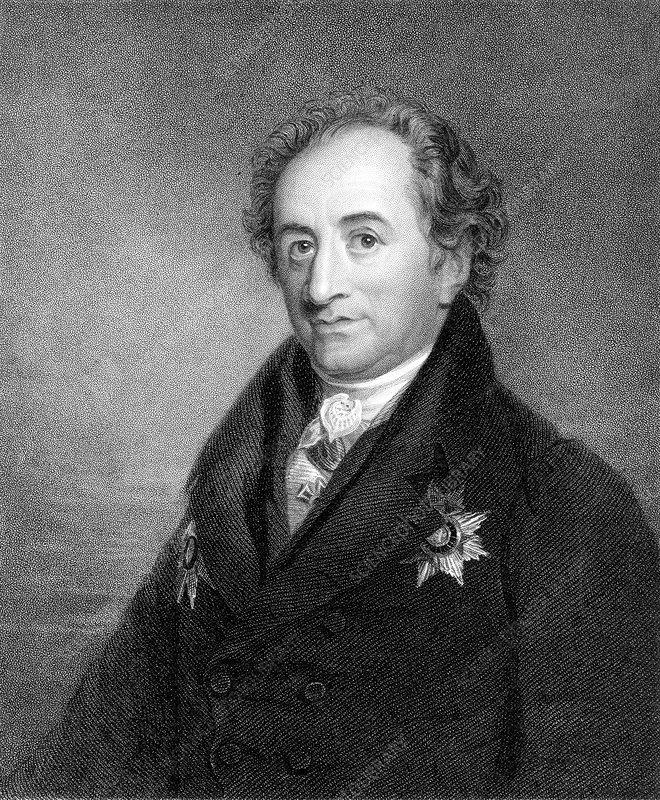 Johann Wolfgang von Goethe, German poet and scientist