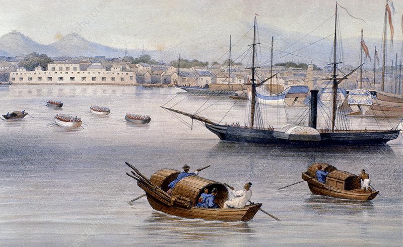 Shanghai harbour c1875