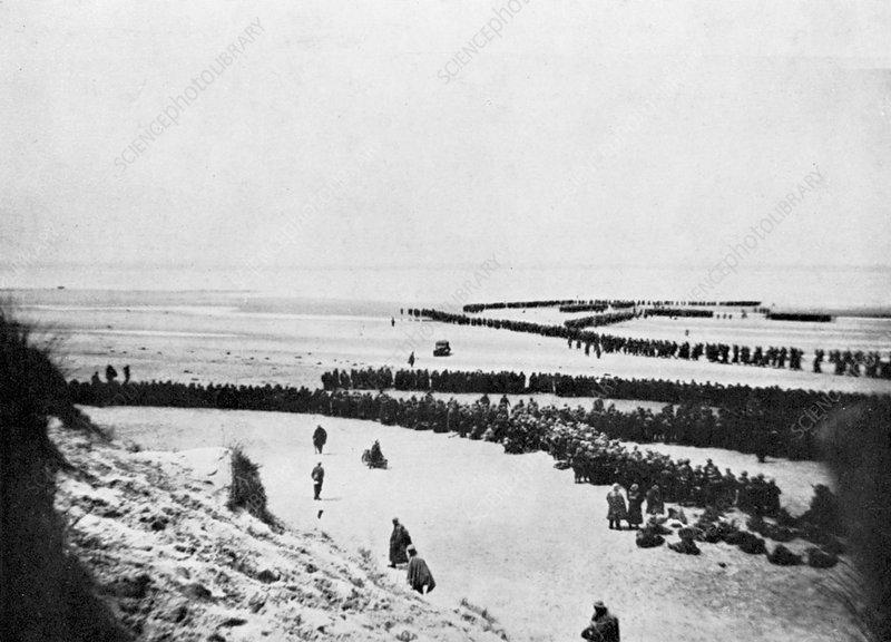 British retreat from Dunkirk, World War 2, 1940