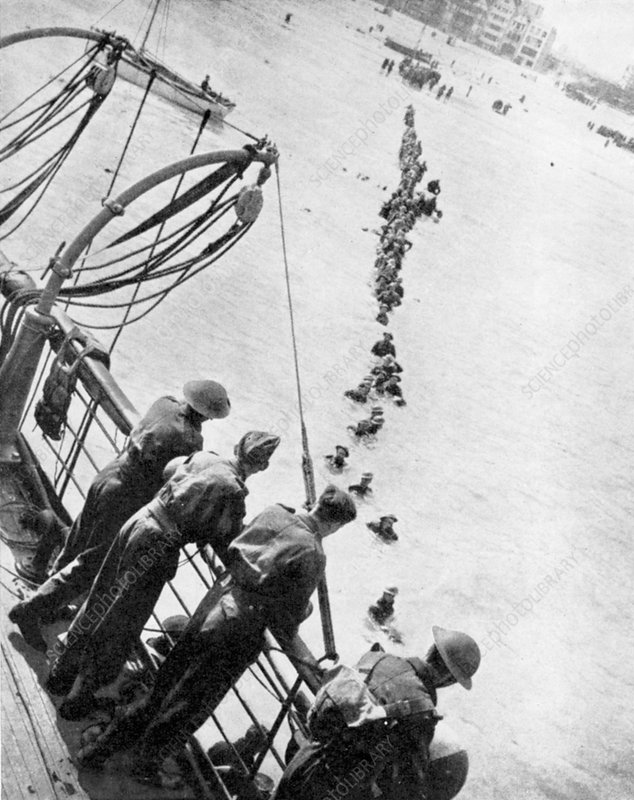 Evacuation of British troops from Dunkirk, 1940