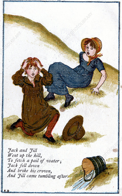 Illustration for 'Jack and Jill went up the hill'