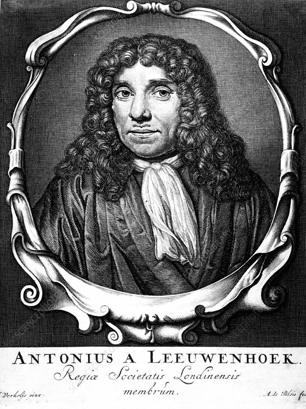 Anton van Leeuwenhoek, Dutch pioneer of microscopy, 1723