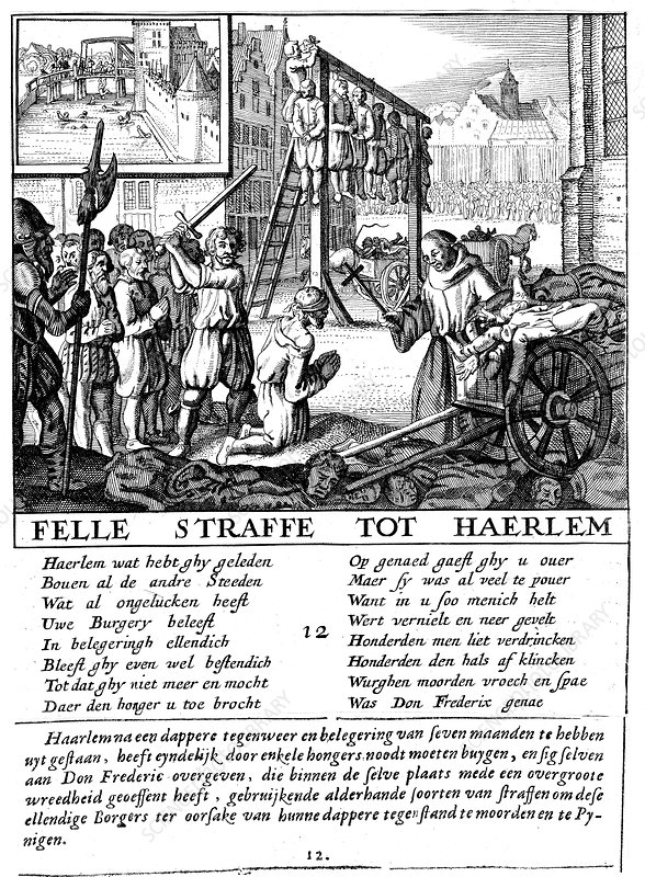 Protestants executed during Duke of Alva's repressive rule