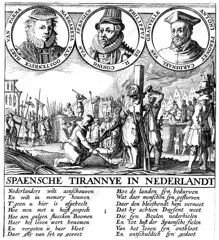 Spanish Execution of Huguenots, c1565