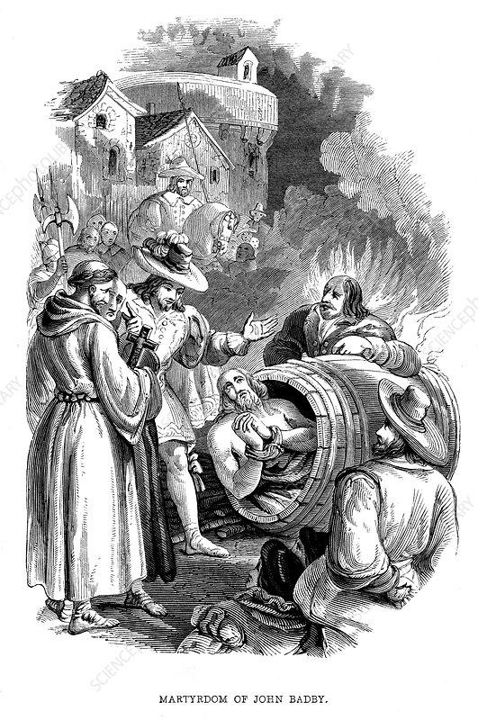 Burning of John Badby for heresy, 1410