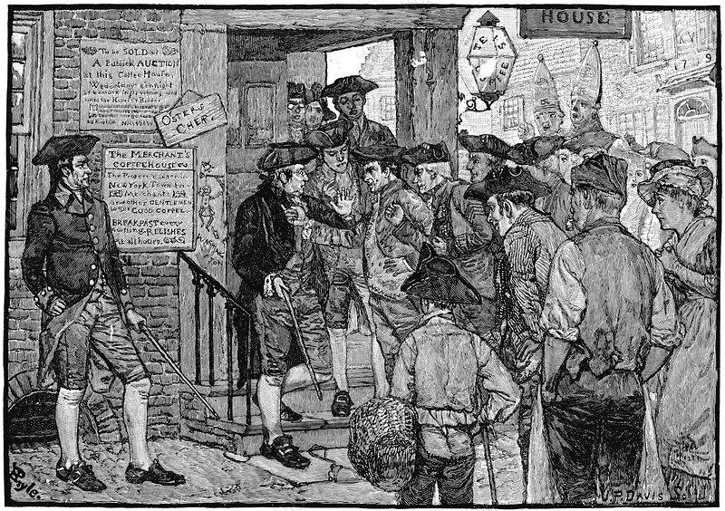 Boston tea party, c1773