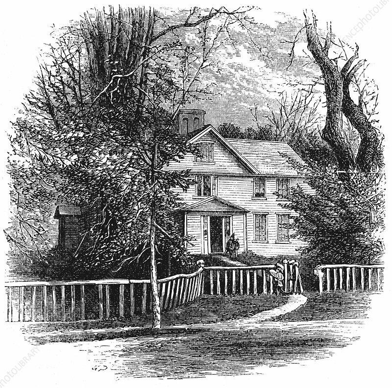 The home of Amos Benson Alcott, Concord, Massachusetts, 1875