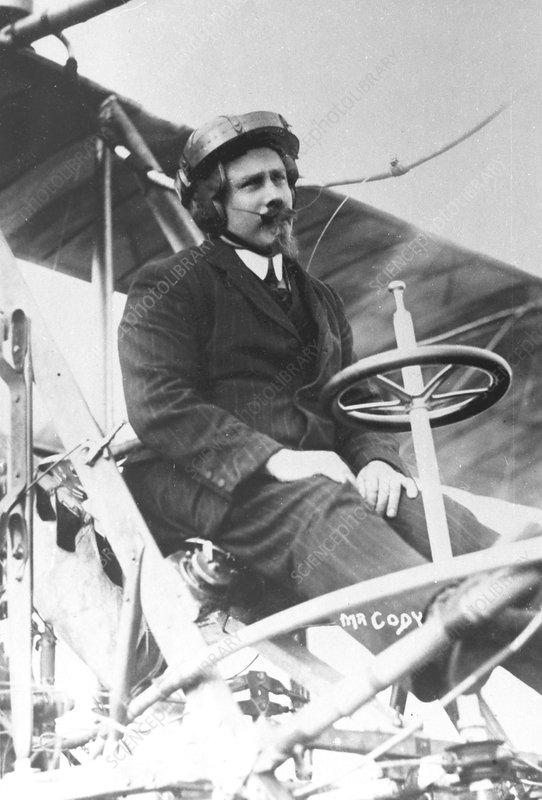 Samuel Franklin Cody in his biplane