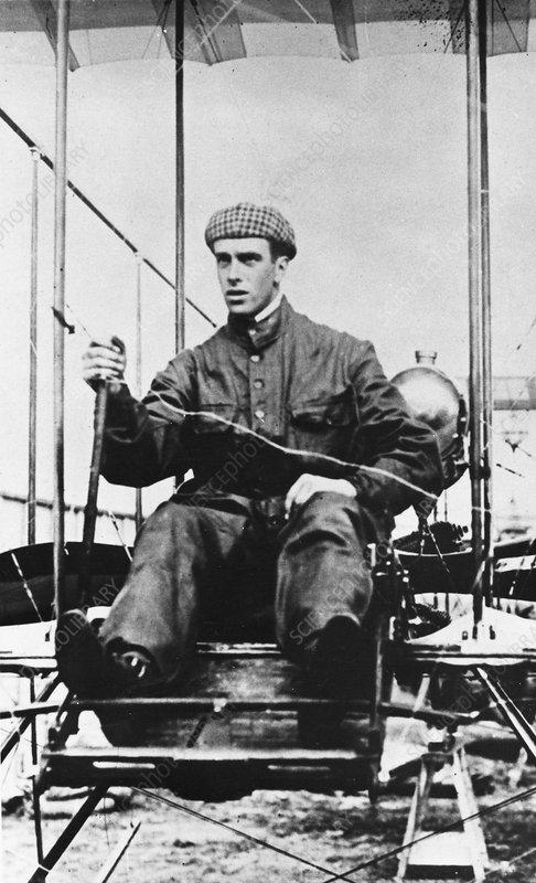 Graham White, British pioneer aviator, c1910