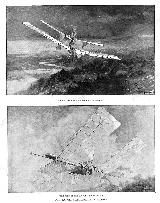 SP Langley's steam-powered model plane, 1902