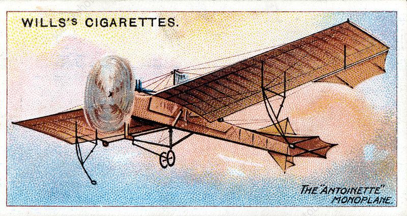 Antoinette' monoplane of French aviator Hubert Latham, c1910