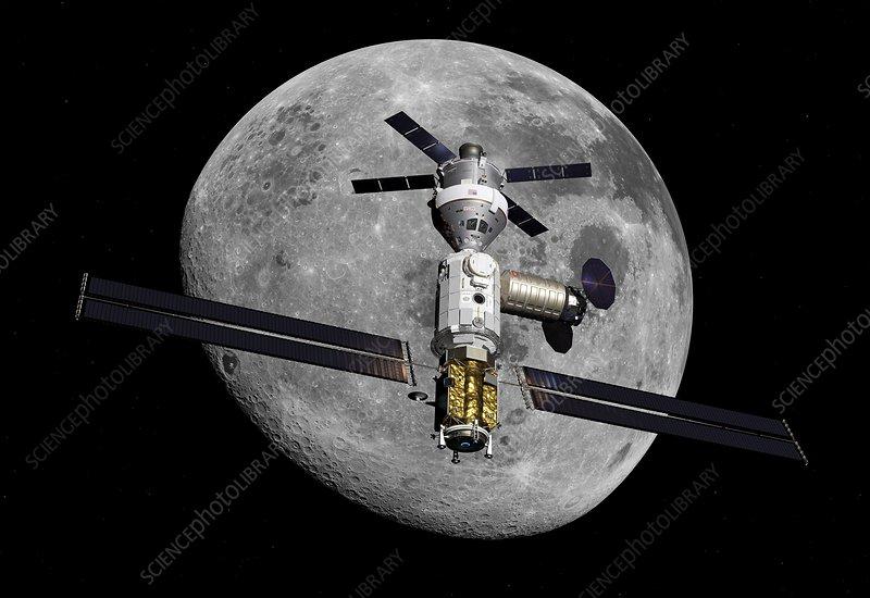 Lunar Orbital Platform-Gateway, illustration