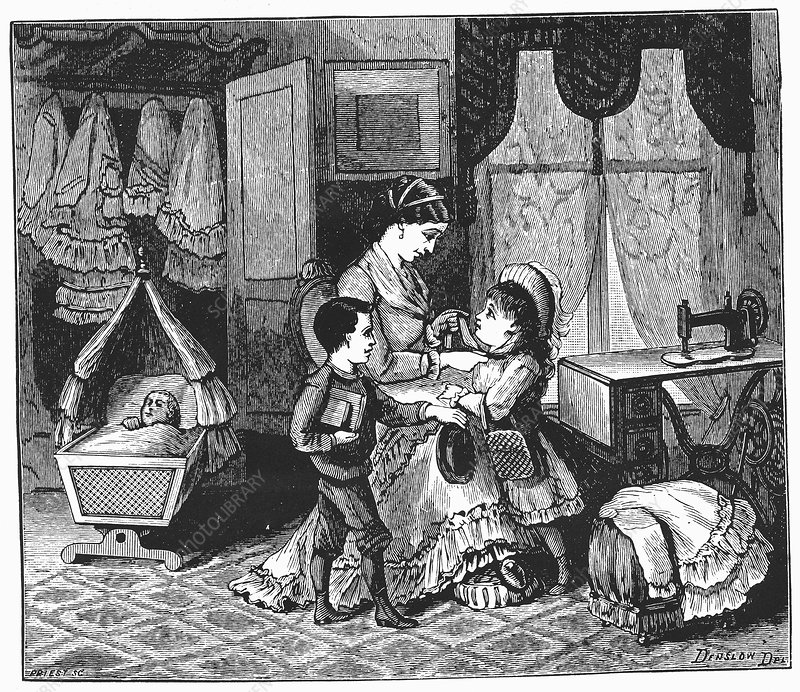Benefits of using the Singer sewing machine, 1880