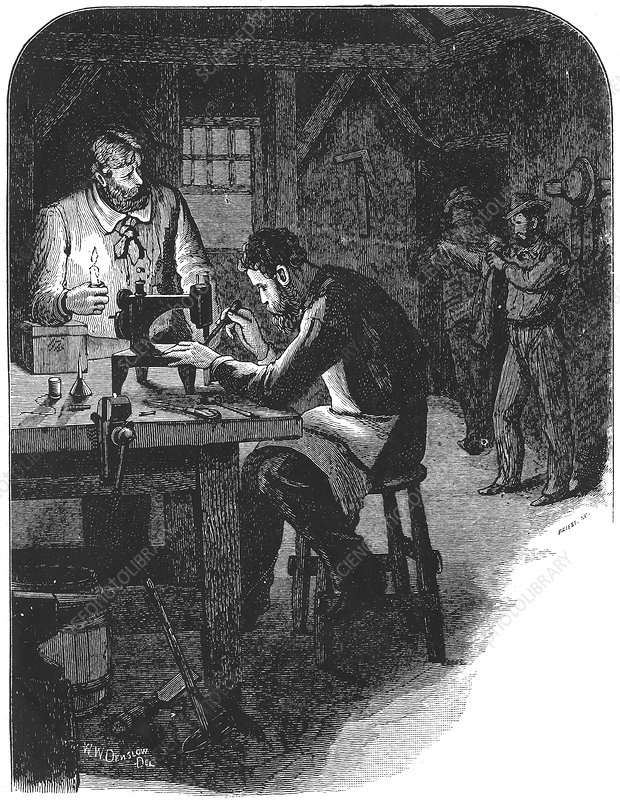 Invention of the Singer sewing machine, 1850