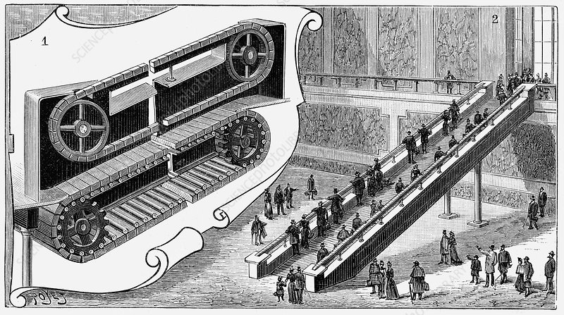 Escalator, Cortland Street Station, New York