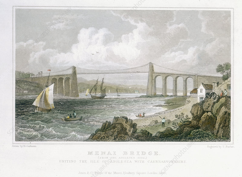Menai Bridge (from the Anglesea Side)', 1830