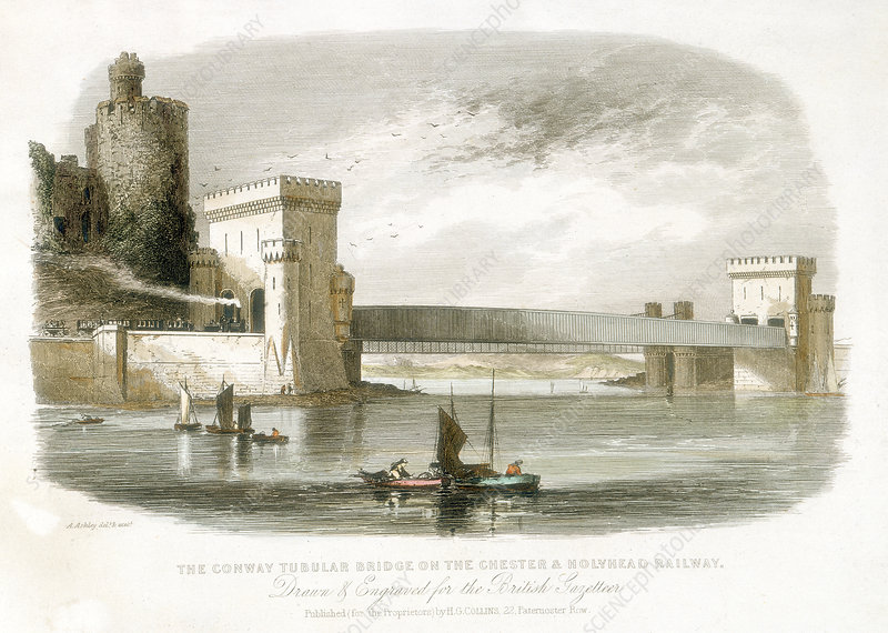 The Conwy Tubular Bridge, North Wales