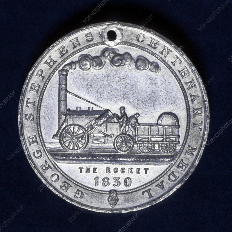Medal commemorating George Stephenson