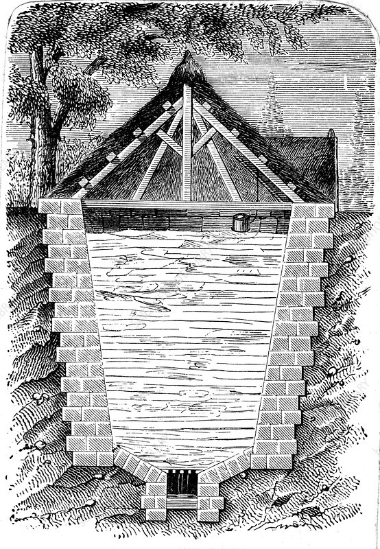 Refrigeration: sectional view of an ice house