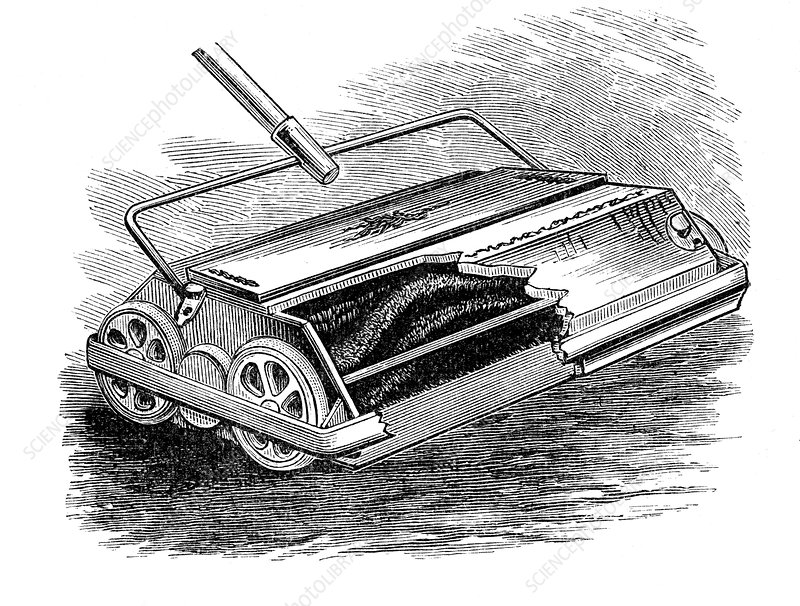 Bissell carpet sweeper, American, 1887