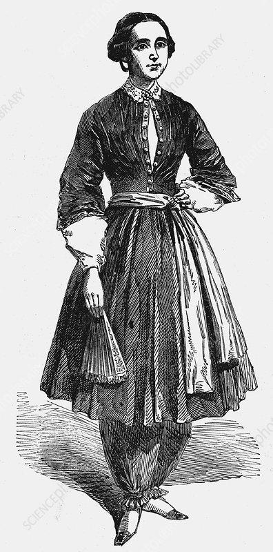 Amelia Bloomer, American feminist