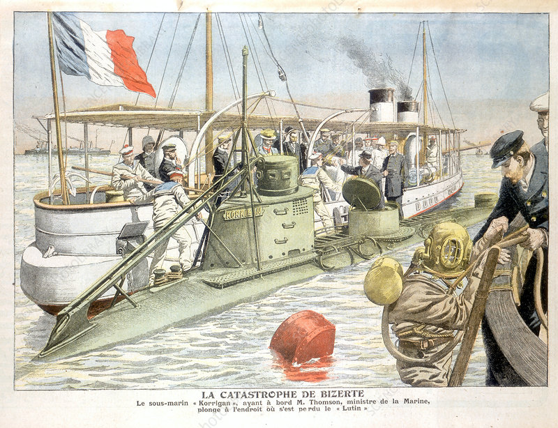 Korrigan', French navy submarine, 1906