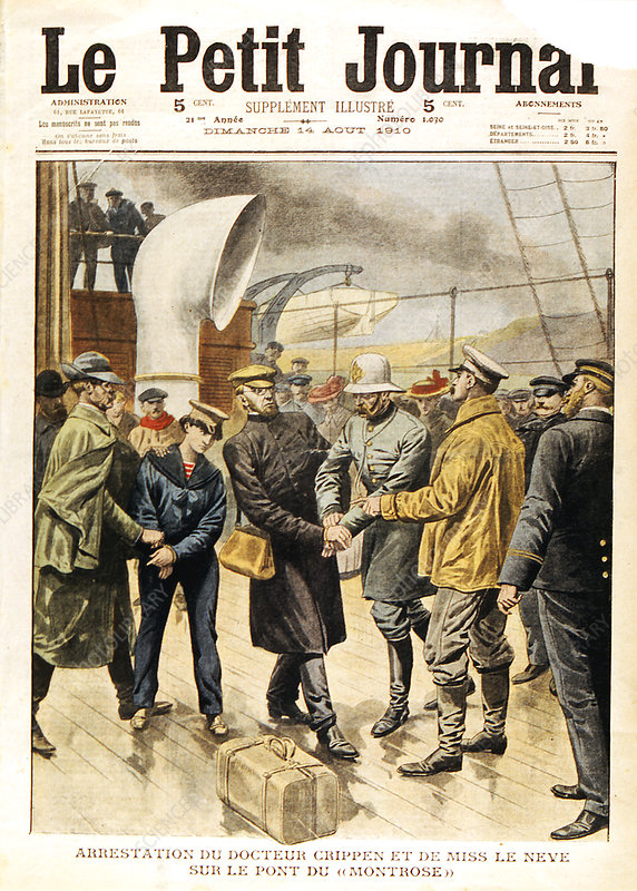 The arrest of Dr Crippen and Ethel le Neve, 1910